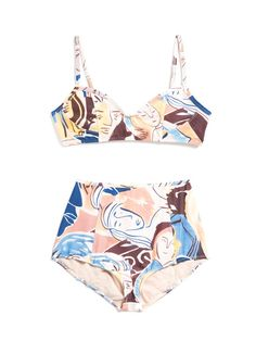 Must-Have: An Art-Inspired Swim Set via @WhoWhatWear