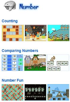 Math Number Activities- Counting, Comparing, Number Lines, Hundreds Charts, Number Fun and more from Johnnie's Math Page