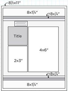 Scrapbook Page Sketch 431 #scrapbooking #scrapbook