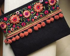Bohemian Clutch ethnic clutch boho bag by BohoChicCollection