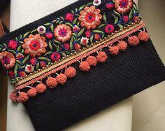 Bohemian Clutch ethnic clutch boho bag by BohoChicCollection