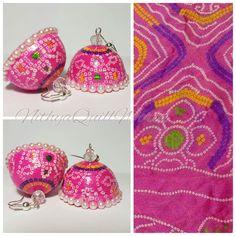 Silk Thread Earrings, Fabric Earrings, Thread Jewellery, Paper Jewelry, Fabric Jewelry, Paper Beads, Paper Quilling Earrings, Feather Jewelry, Quilling Designs