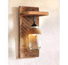 Mason Jar lichte muur meubilair - Cotswolds - muur schans - verlichting