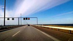 Denmark-Sweden connected by Oresund bridge (under water tunnel).