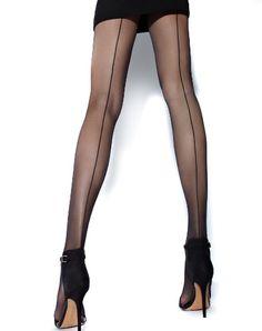 fd6a1c12e91e4 Cecilia de Rafael Hyde Park Back Seam Tights at Amazon Women's Clothing  store: Pantyhose
