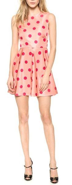 fun polka dot printed dress http://rstyle.me/n/w4689r9te
