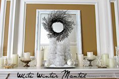 Homespun With Love: White Winter Mantel
