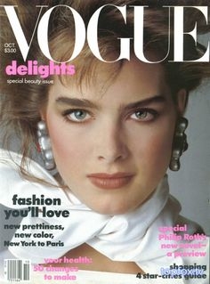 Brooke Shields - Vogue Oct 1983 by Denis Piel