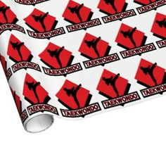 Tae Kwon Do red wrapping paper
