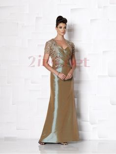 $120.91Straps Floor Length Taffeta Sheath Column Mother Of The Bride Dress #With #Pleating #P2mc0035