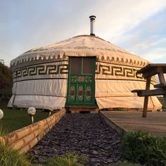 Yurt in RAME/FALMOUTH, United Kingdom. Located in the heart of South Cornwall, just a few miles from the seaside town of Falmouth and the coastal countryside of The Lizard.The yurt has basic cooking facilities, a double bed, sofa bed, additional camp bed and travel cot upon request.  C...