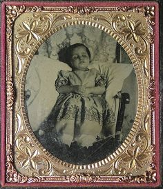 Post Mortem Ambrotype of a child in a Chair | A small girl (… | Flickr