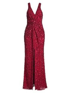 Parker Black Monarch Plunging Beaded Gown In Rose Bud Parker Black, Floor Length Gown, Beaded Gown, Rose Buds, World Of Fashion, Luxury Branding, Glamour, Gowns, Clothes For Women