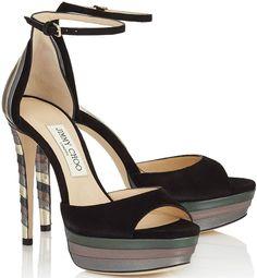 Jimmy Choo 'Max' Suede Platform Sandals