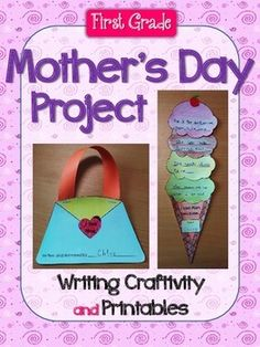 Do you need a quick and fun Mother's Day project for your students?*Please click the preview button to get a better look of the packet.This packet includes the following:1. Directions with pictures to make the ice cream craft and the purse book2. Templates for the purse book3.