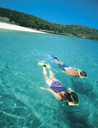 Great Keppel Island is 14 sq km of scenic beauty where visitors can explore 15 beaches and National Parks; the clear pristine waters offer many water sports; water skiing, charter a boat, fish for game, bottom or reef fish or dive and snorkel in the fabled waters off Queensland.