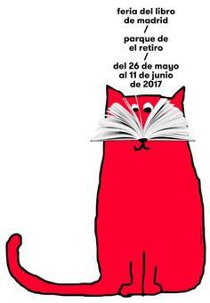 Cartel de Ena Cardenal de la Nuez para la 76ª Feria del Libro de Madrid.