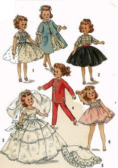 "Butteric 10 1//2/"" doll Wardrobe Pattern No 8798 Fits Jill Jan dolls Bride Gown"