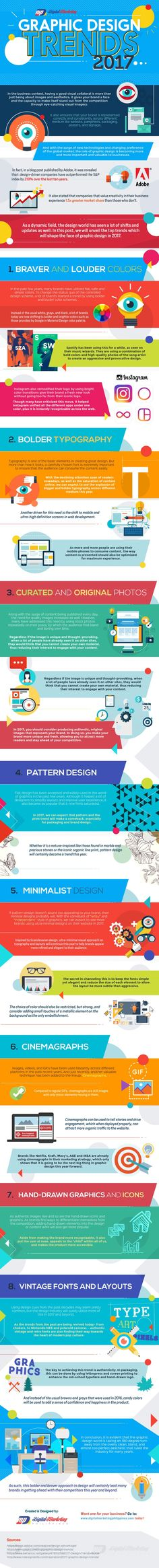 8 #GraphicDesign Trends to Add Some Oomph to Your 2017 #Marketing Campaign #Infographic #Design #Startup #Business