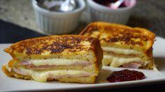 Sándwich Montecristo con mermelada