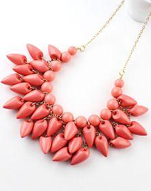 Red Gemstone Tassel Necklace