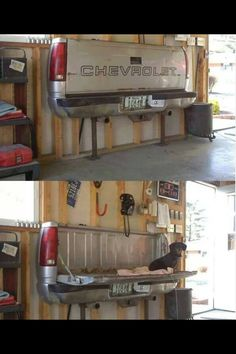 Need a workbench?  Try this up-cycle idea!  So cool!
