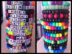 10 Kandi Rave Music Festival Bracelets Custom by EverythingPerf