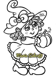 menina bruxinha - Maria Cidoca
