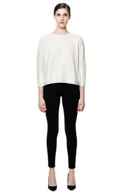 PANTS WITH FAUX LEATHER PIPING ON POCKETS from Zara