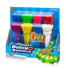 Zuru Bunch O Balloons 280 Rapid-Filling Self-Sealing Water Balloons, Multi-Colored Kids Toys For Christmas, Toddler Christmas, Water Balloons, The Balloon, Mode Kawaii, Small Backyard Pools, Cute Notebooks, Barbie Birthday, Essentials
