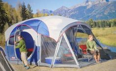 Cool! :)) Pin This & Follow Us! zCamping.com is your Camping Product Gallery ;) CLICK IMAGE TWICE for Pricing and Info :) SEE A LARGER SELECTION of 7 ++ persons camping tents at http://zcamping.com/category/camping-categories/camping-tents/7-plus-person-tents/ - #hunting #campingtents #camping #campinggear - Coleman Weathermaster 7-person Screened Tent [Misc.] « zCamping.com