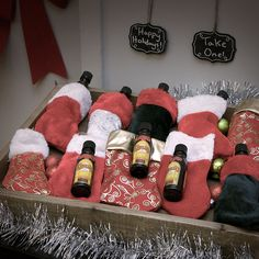 For the tenth day of Kahlua Holiday put together ten stockings stuffed with Kahlua minis for a festive gift!