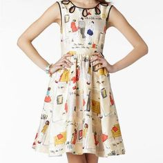 Cotton printed dress, www.cheris.ro