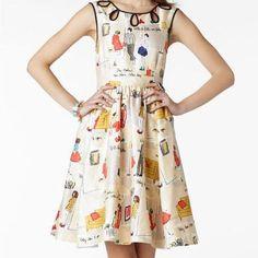 Cotton printed dress, www.cheris.ro