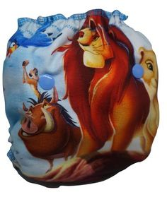 Lion King, custom printing and handame cloth diaper on all in two. Buy it now at our website: www.parischicpr.com