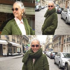 Thank you @fmc.atelier for my beautiful handknit sweater and scarf. The Color is perfection and your Talent is over the moon. Sending my Christmas order soon!!! ❌⭕️❤️ from Paris