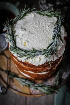 Twigg studios: pear and parsnip cake with rosemary syrup.