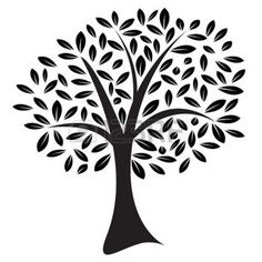 tree vector: Vector image of a lone tree with leaves in a random pattern