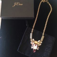 NWB JCrew Statement Necklace Beautiful JCrew Statement Necklace . includes box and pouched. Never worn only tried on. ordered online and cannot return. I hope to find someone who with enjoy this gorgeous piece. purchased at full retail, not factory merchandise. please send questions. J. Crew Jewelry Necklaces