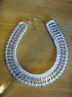 Glass Beads and Pull Tabs Necklace by PopTopLady