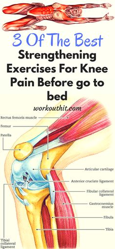 3 Of The Best Strengthening Exercises For Knee Pain Before go to bed - Workout Hit