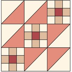 Assemble a 9 Steps to the Altar block. Barn Quilt Designs, Barn Quilt Patterns, Pattern Blocks, Quilting Designs, Quilting Patterns, Half Square Triangle Quilts, Square Quilt, Patch Quilt, Quilt Blocks