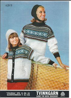 Vålådal 620 S Sweater Patterns, Clothes Patterns, Knitting Patterns, Norwegian Knitting, Ski Sweater, Old Magazines, Vintage Sweaters, Jumpers, Crocheting