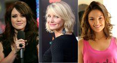 Hilary-Duff, Cameron-Diaz e Ísis Valverde tem o rosto redondo / Crédito: Getty Images e AgNews