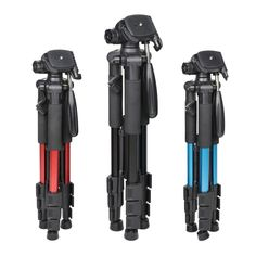 (33.17$)  Buy here - http://aiciy.worlditems.win/all/product.php?id=32793634317 - Q111 Professional Tripod Portable Pro Aluminium Tripod Accessories Camera Stand 3 Color Black Red Blue