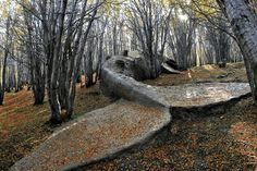 A beached whale in the forests of Argentina, 2009 - by Adrián Villar Rojas (1980), Argentine