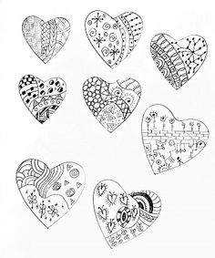 heart doodles for valentine cookie inspiration