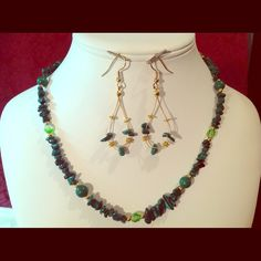 """Spotted while shopping on Poshmark: """"Handcrafted Necklace /Earrings  #5044""""! #poshmark #fashion #shopping #style #FireGlow Gem #Jewelry"""