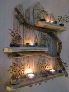Charming Natural Genuine Driftwood Shelves Solid R. - - Charming Natural Genuine Driftwood Shelves Solid R… – -: Charming Natural Genuine Driftwood Shelves Solid R. - - Charming Natural Genuine Driftwood Shelves Solid R… – - Einfache und . Rustic Shabby Chic, Shabby Chic Homes, Rustic Decor, Rustic Style, Drift Wood Decor, Rustic Wood, Shabby Home, Rustic Wall Art, Country Decor