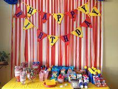 Circus 1st Birthday